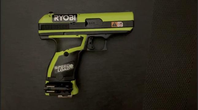 Pistolet Légo Ryobi10