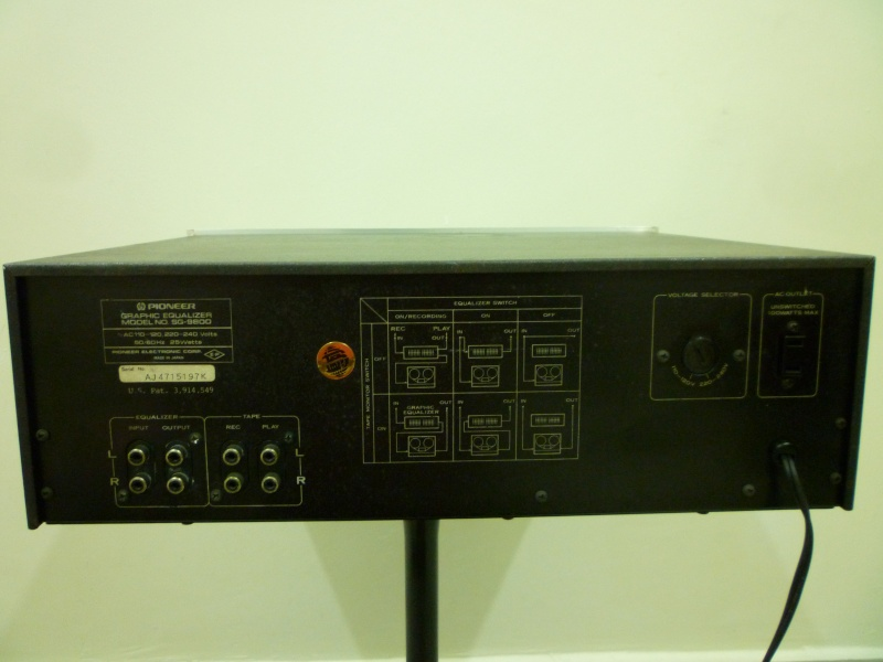 PIONEER SPEC SG-9800 12 Band Graphic Equalizer Silver Face TOTL P1120513