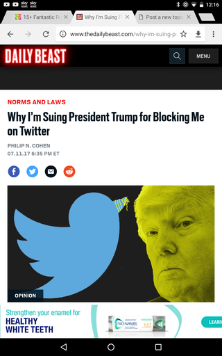 Why I'm Suing President Trump for Blocking Me on Twitter Screen18