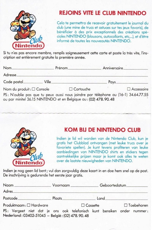 Rétrospective sur le Club Nintendo en France - Partie 1 Carte_11
