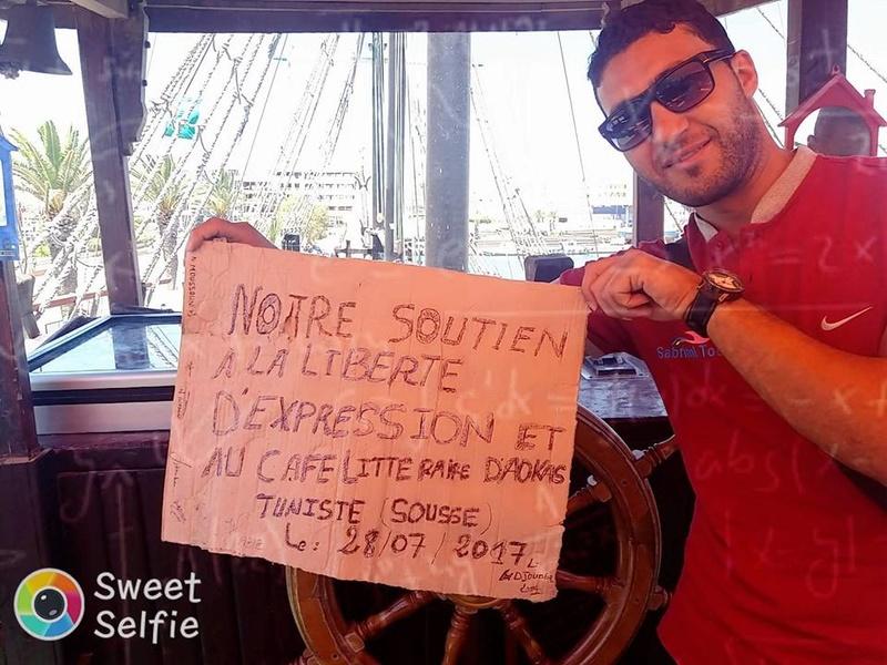 Soutien au café littéraire d'Aokas Depuis Sousse ( Tunisie) 3310