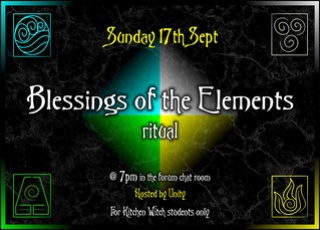 Blessings of the Elements Ritual ~ Sunday 17th September 2017 Blessi10