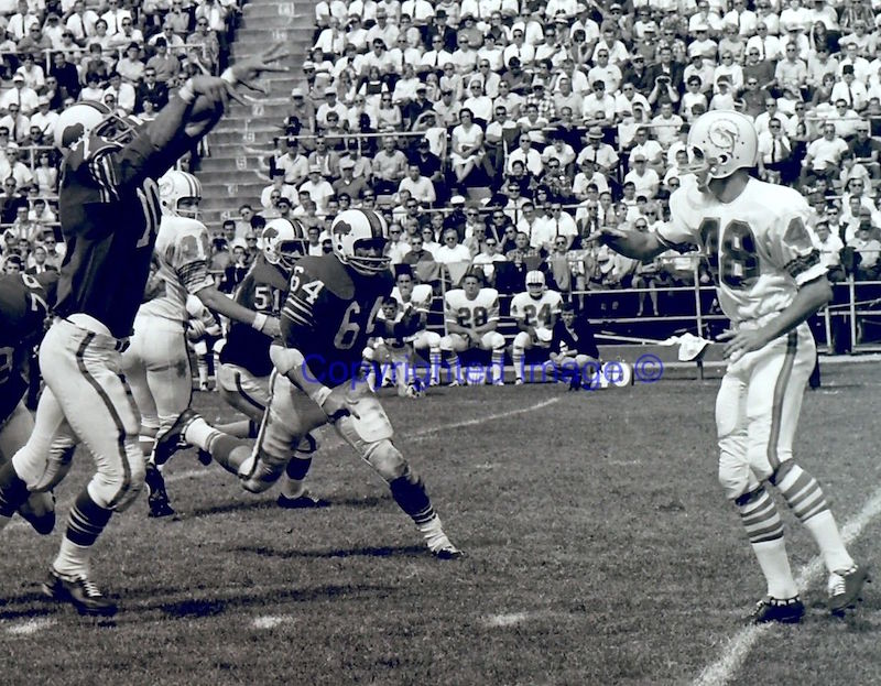 Dolphins 1966 mid-season logo switch S-l16010