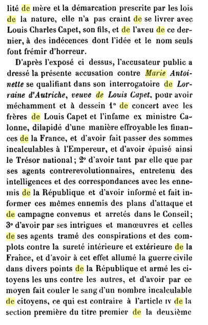 22 novembre 1793: Acte d'accusation de Marie-Antoinette 1110
