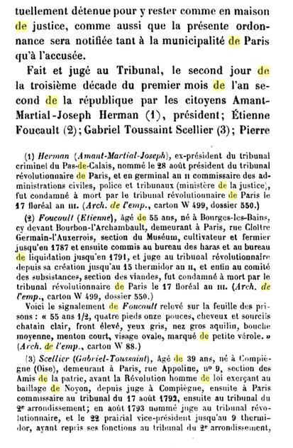 22 novembre 1793: Acte d'accusation de Marie-Antoinette 1310
