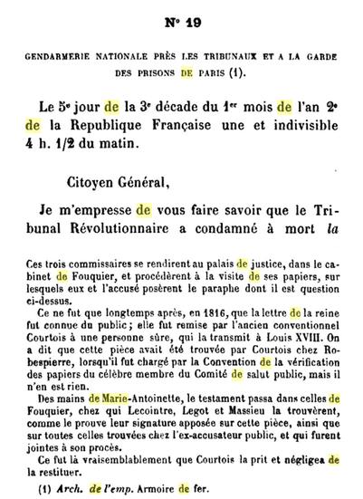 25 novembre 1793: Gendarmerie Nationale près de les Tribunaux et la garde des prisons de Paris 166