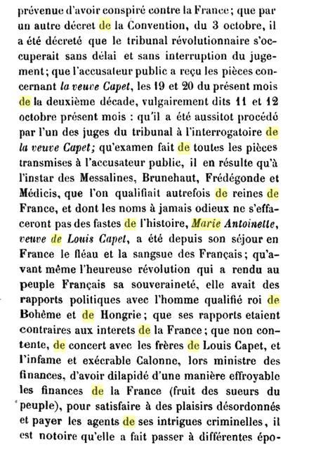 22 novembre 1793: Acte d'accusation de Marie-Antoinette 240
