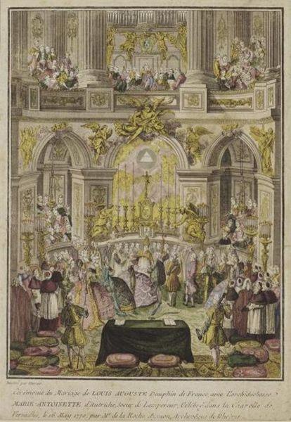 16 mai 1770: Mariage en personne du Dauphin et de Marie-Antoinette 414px-10