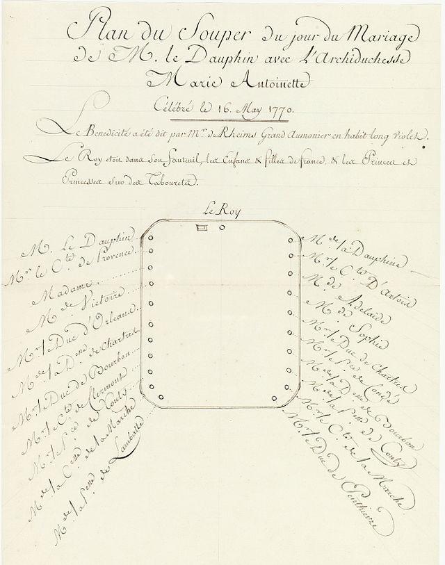 16 mai 1770: Mariage en personne du Dauphin et de Marie-Antoinette 414px-11