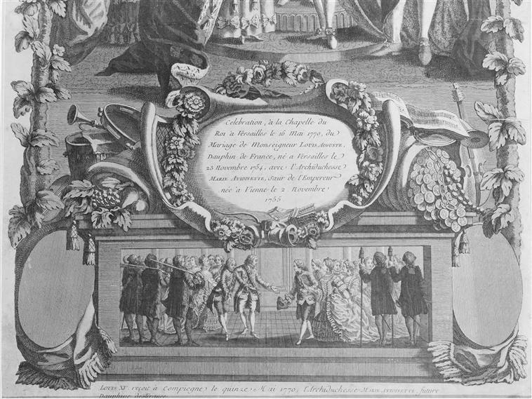 16 mai 1770: Mariage en personne du Dauphin et de Marie-Antoinette 414px-14