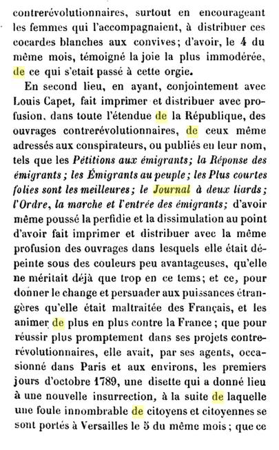 22 novembre 1793: Acte d'accusation de Marie-Antoinette 425