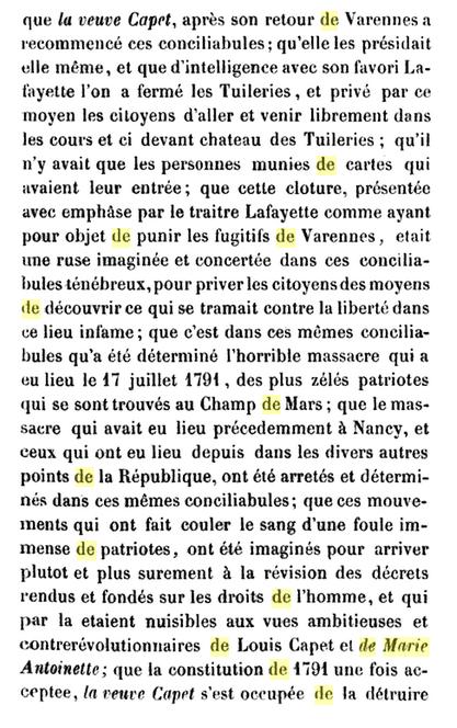22 novembre 1793: Acte d'accusation de Marie-Antoinette 616
