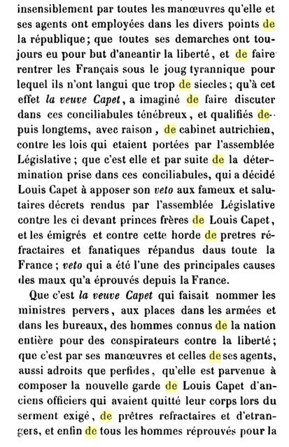 22 novembre 1793: Acte d'accusation de Marie-Antoinette 712