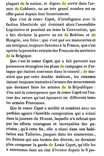 22 novembre 1793: Acte d'accusation de Marie-Antoinette 811