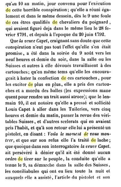 22 novembre 1793: Acte d'accusation de Marie-Antoinette 910