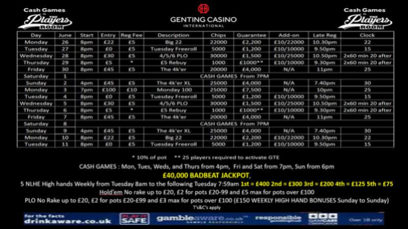 Latest Genting Resortsworld Schedule 19441910