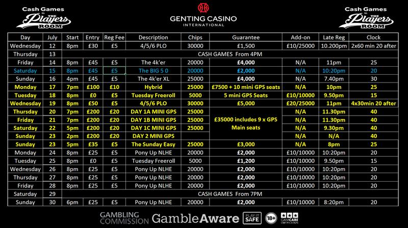 Updated Genting Resortsworld Schedule - July Gic_ju10