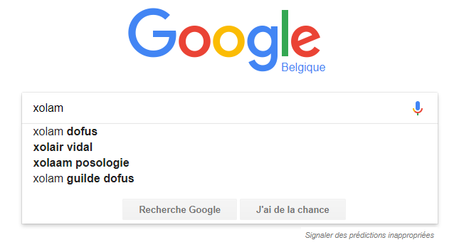 Recherche Google Xolam Google10