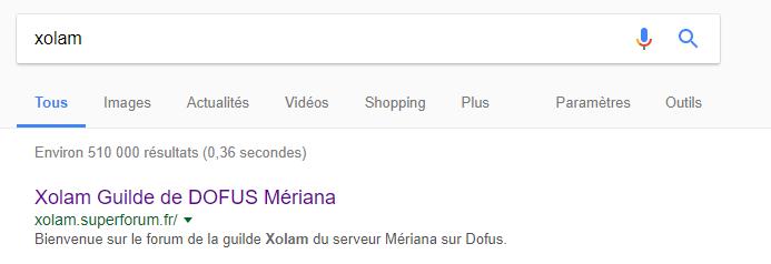 Recherche Google Xolam Google11