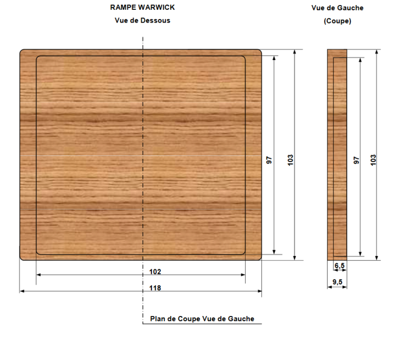 Incrustation bois à la CNC Rampe10