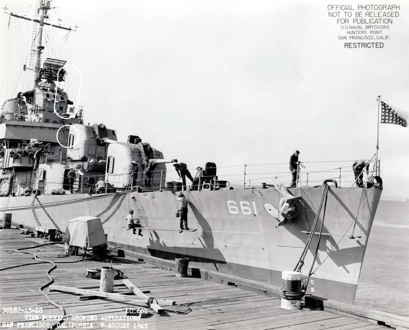 USS KIDD Fletcher Class Destroyer DD-661 Trumpeter 1/350 Dd661x10