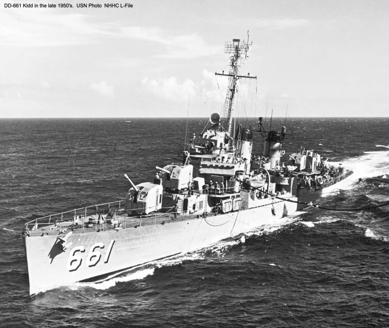 USS KIDD Fletcher Class Destroyer DD-661 Trumpeter 1/350 Dd661x13