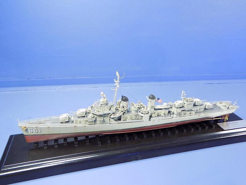 USS KIDD Fletcher Class Destroyer DD-661 Trumpeter 1/350 Dscn0830