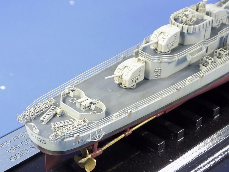 USS KIDD Fletcher Class Destroyer DD-661 Trumpeter 1/350 Dscn0841