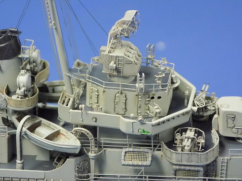 USS KIDD Fletcher Class Destroyer DD-661 Trumpeter 1/350 Dscn0844