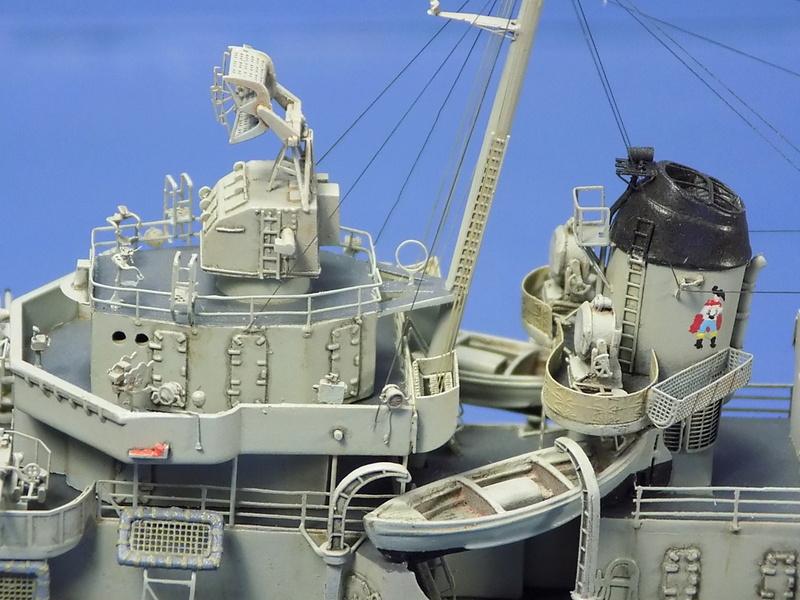 USS KIDD Fletcher Class Destroyer DD-661 Trumpeter 1/350 Dscn0846