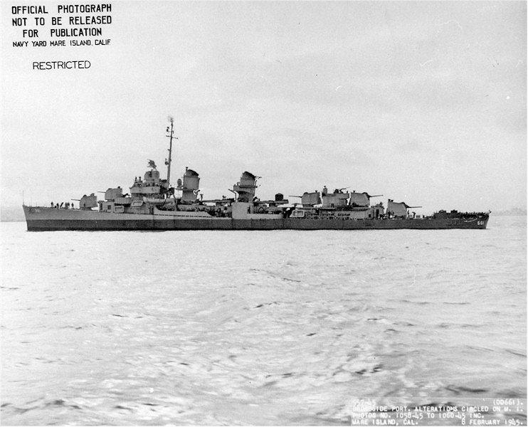 USS KIDD Fletcher Class Destroyer DD-661 Trumpeter 1/350 Kidd_612