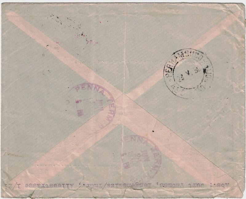 Zeppelinpost aus USA Langen11