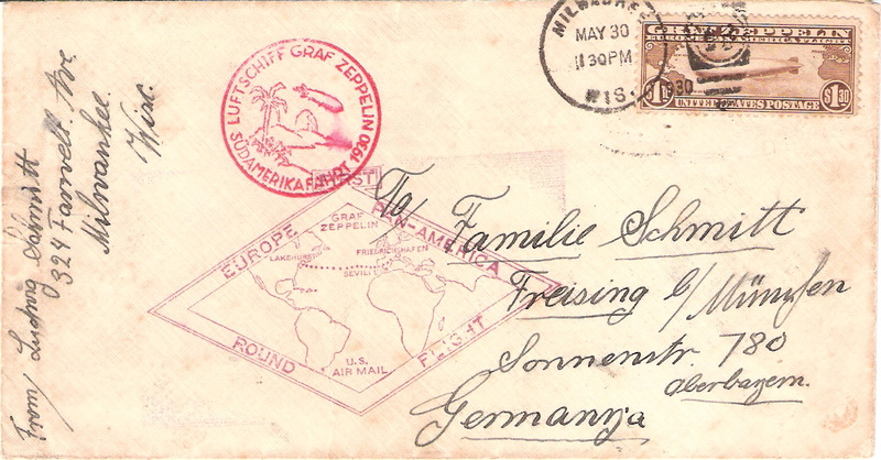 Zeppelinpost aus USA Sieger11