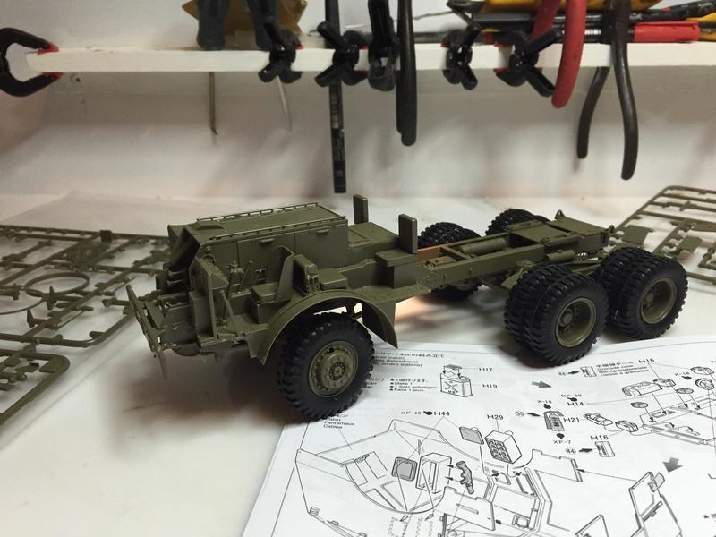 Dragon Wagon - Tamiya 1/35 - avec excavatrice scratch Abc_3410