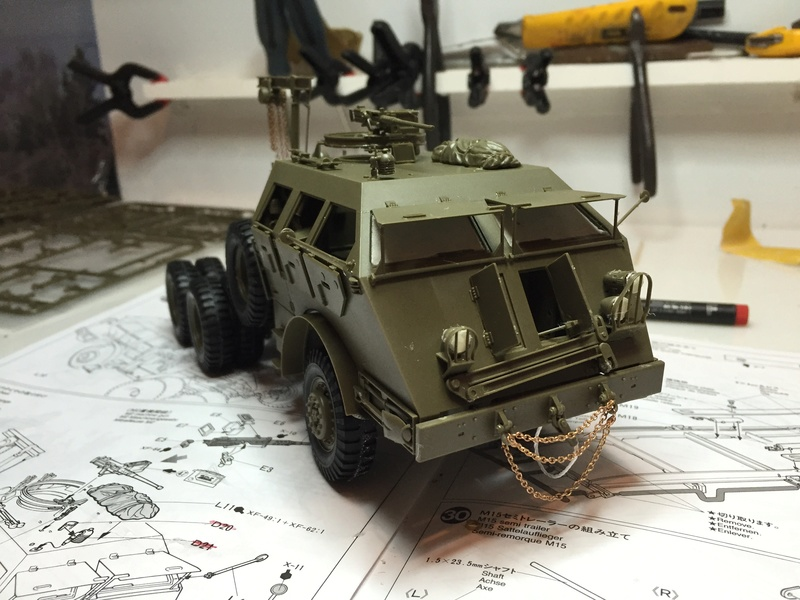 Dragon Wagon - Tamiya 1/35 - avec excavatrice scratch Abc_3810