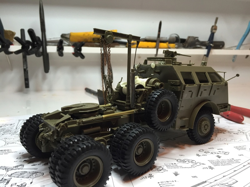 Dragon Wagon - Tamiya 1/35 - avec excavatrice scratch Abc_3910