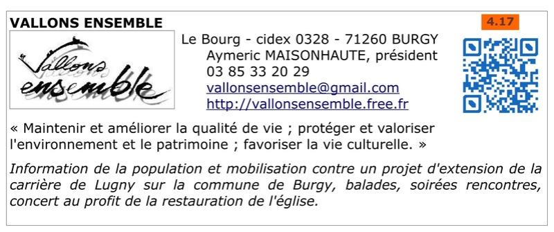 FAPPAH, Annuaire interactif Version juillet 2017 de la Fédération des Associations de sauvegarde et mise en valeur du patrimoine bâti, paysager et immatériel concentrées entre Cluny Tournus et périphérie du PAH . 019b10