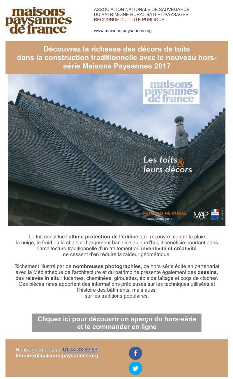 Décors de toits : découvrez le nouveau hors-série Maisons Paysannes ! 111