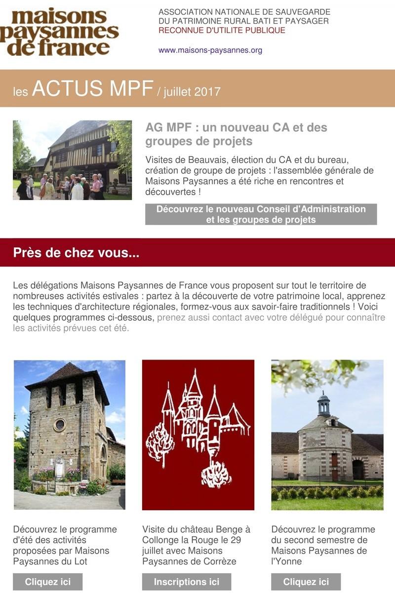 Lettre d'info Maisons Paysannes de France - juillet 2017 123