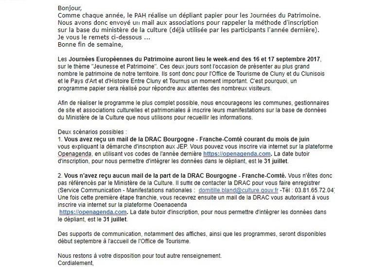 Information PAH - Dépliant papier Journées du Patrimoine Bonjou12