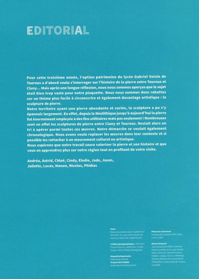 """Dépliant """"Focus - La sculpture de pierre entre Cluny et Tournus"""", rédigé par les élèves de 2nde option patrimoine du Lycée Gabriel Voisin de Tournus.  Focus_14"""