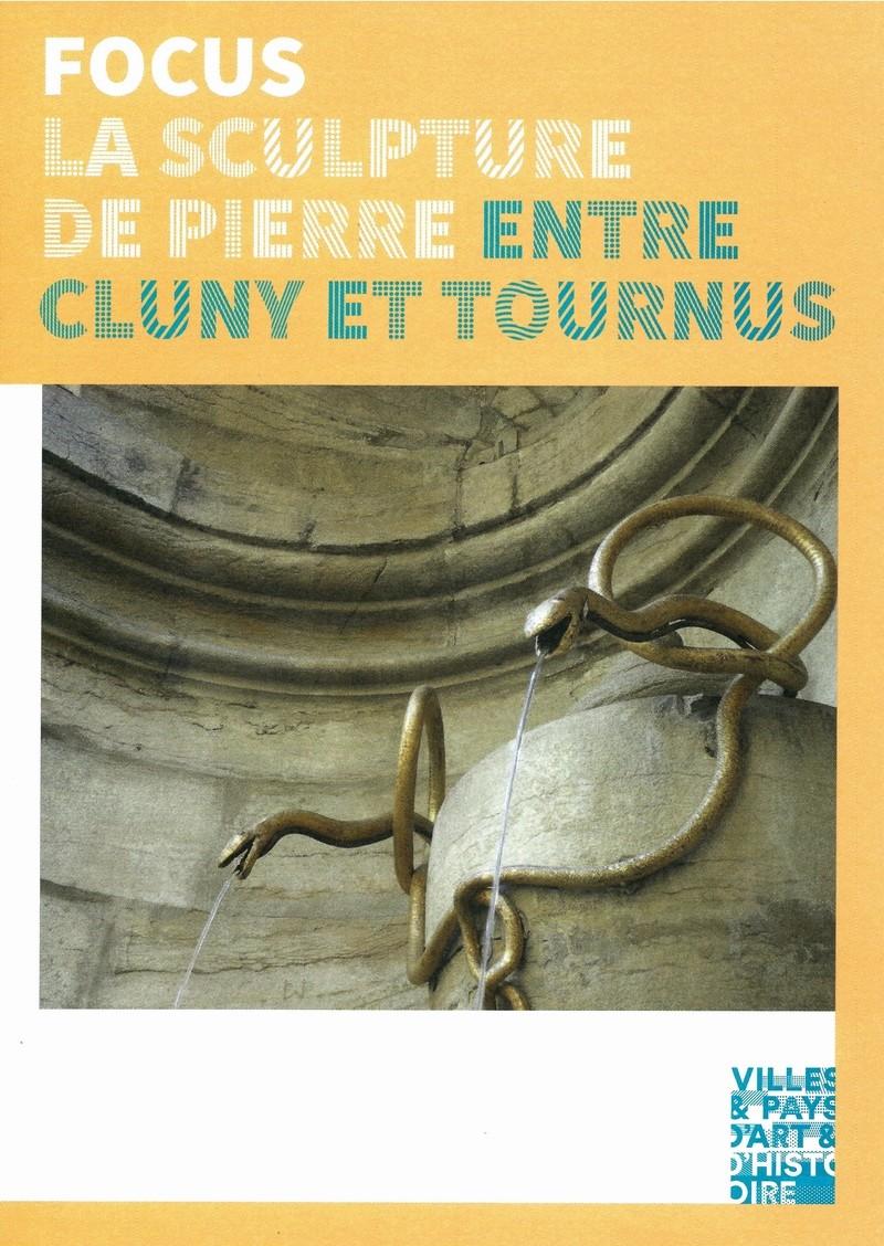 """Dépliant """"Focus - La sculpture de pierre entre Cluny et Tournus"""", rédigé par les élèves de 2nde option patrimoine du Lycée Gabriel Voisin de Tournus.  Focus_15"""