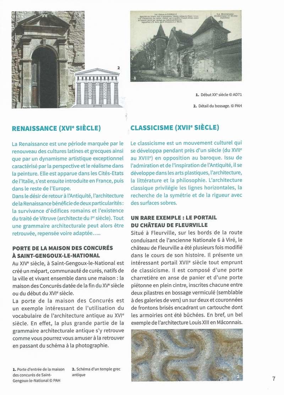 """Dépliant """"Focus - La sculpture de pierre entre Cluny et Tournus"""", rédigé par les élèves de 2nde option patrimoine du Lycée Gabriel Voisin de Tournus.  Focus_19"""