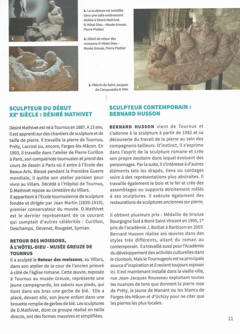 """Dépliant """"Focus - La sculpture de pierre entre Cluny et Tournus"""", rédigé par les élèves de 2nde option patrimoine du Lycée Gabriel Voisin de Tournus.  Focus_21"""
