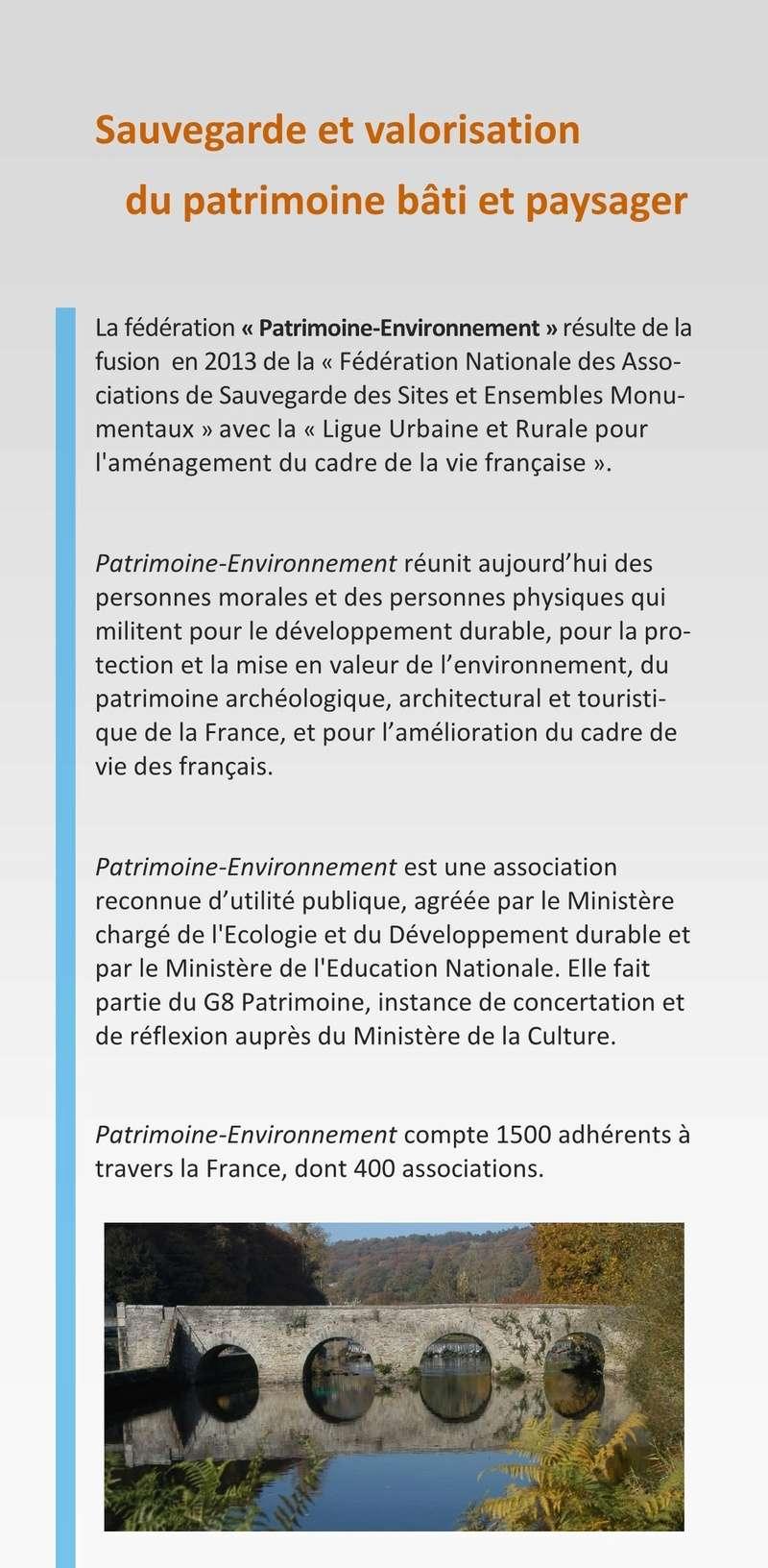 Patrimoine et Environment Plaque13