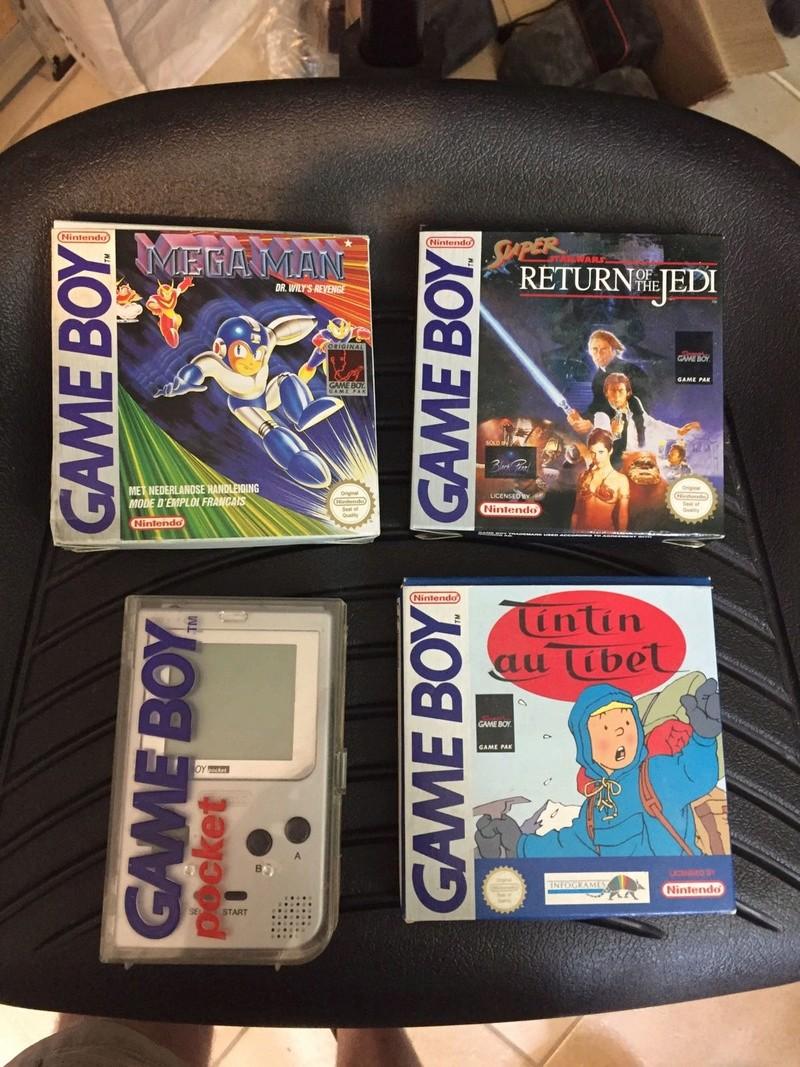 EST _ Jeux GB en boîte et console GB pocket  Img-2034