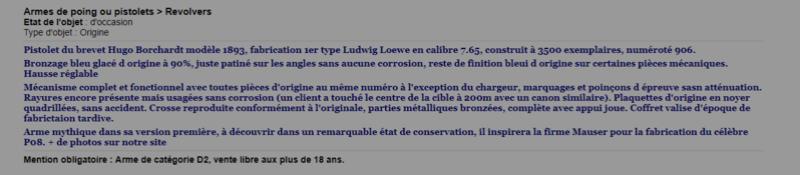 "Borchardt 1893,"" Ludwig Loewe"", n° 458 en coffret. - Page 4 Captur10"