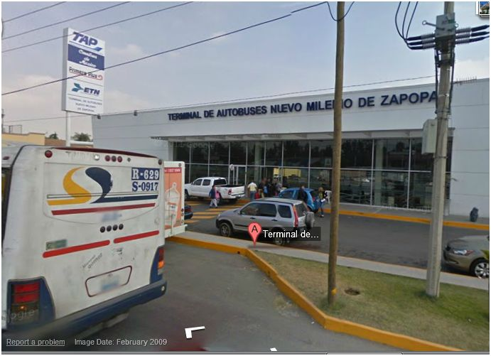Where is the new bus station in Guadalajara Zap10