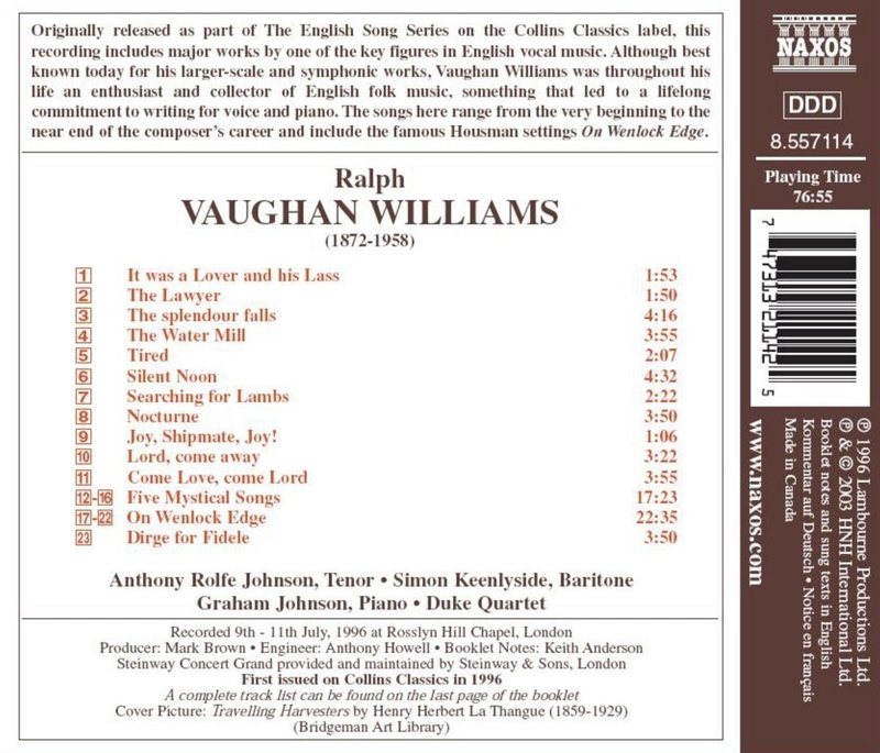 Petit guide discographique de la mélodie britannique. 71cml210