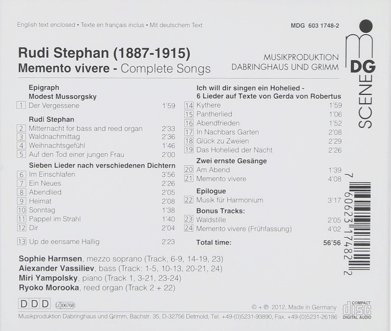 Rudi STEPHAN 1887-1915 71ewzf10
